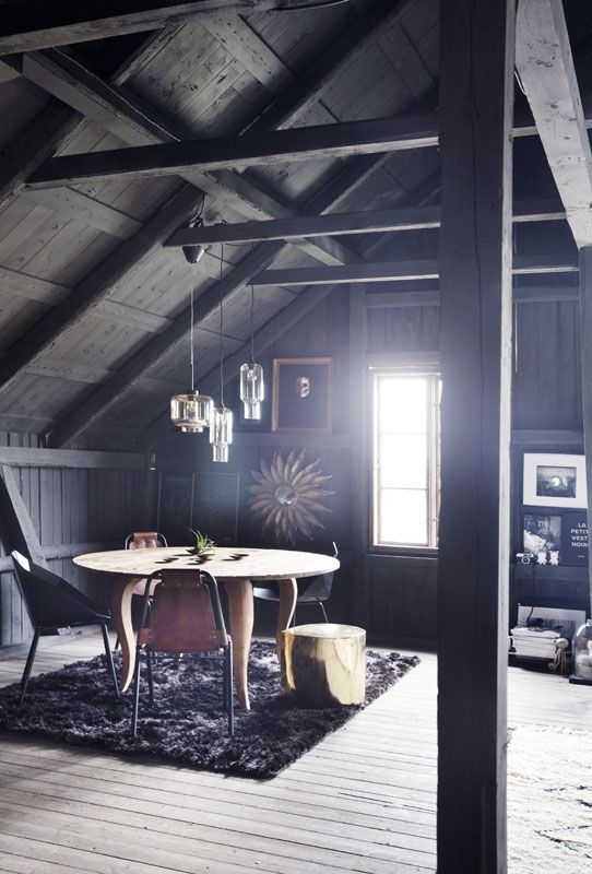 Stunning black farmhouse belonging to Interior designer Camilla Berntsen, perfect rustic and modern combo and the best kitchen ever! More on the blog.