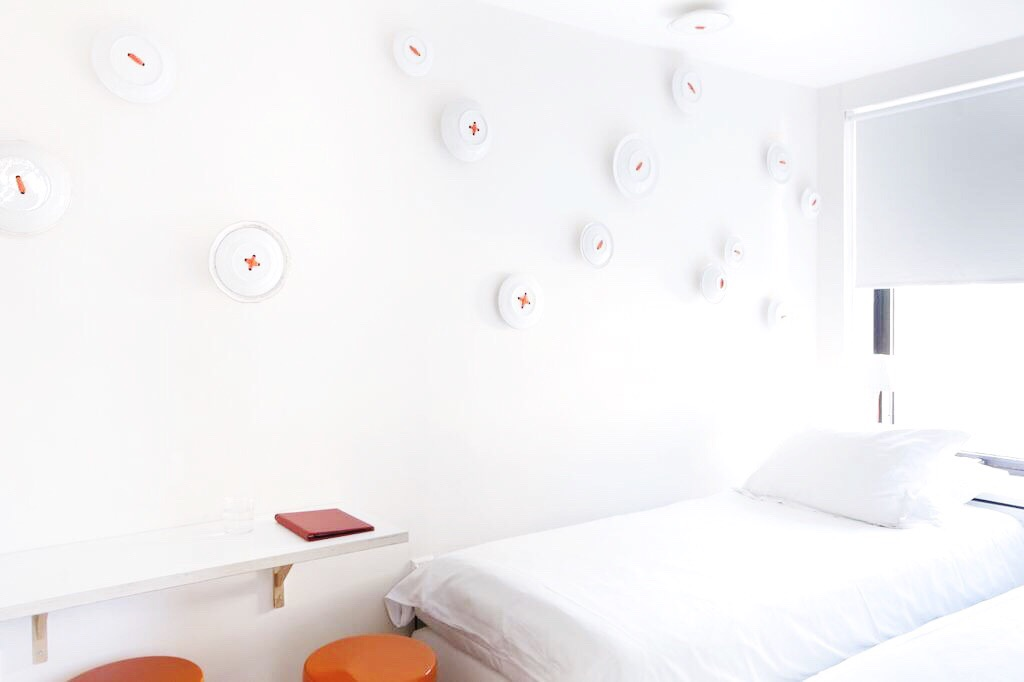 Hip, trendy, budget hotel in Amsterdam. The rooms are dressed like models by designers from the Amsterdam Fashion Institute! Each of the 61 rooms is unique and ranges from 1-to-5 stars..Which room will you choose?