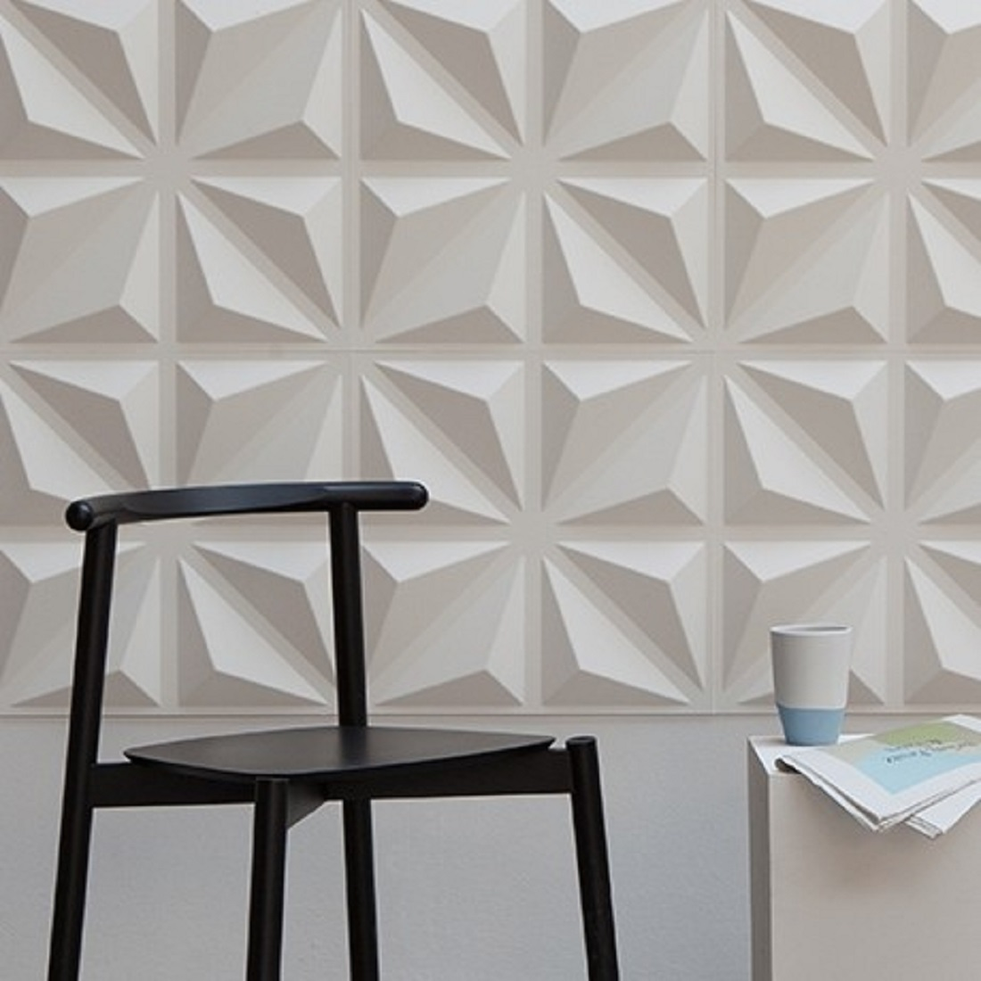 Top 10 wallpaper. Geometric patterns add depth and interest to even the smallest of spaces.