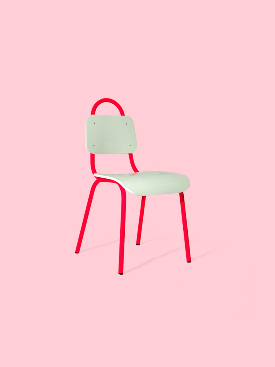 Primary Grey Dining Chair Pink