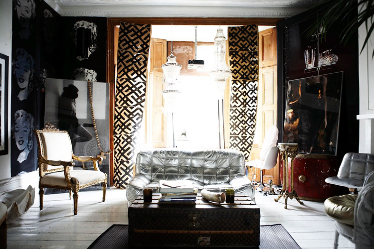 Step inside the sensual bohemian chic home of Interior designer Sera Hersham-Loftus. It is a lesson in the art of layering luxurious materials and creating this sensual and feminine palace.
