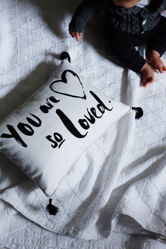 This monochrome pillow is just one of the many items from Also Home, my new online store crush...