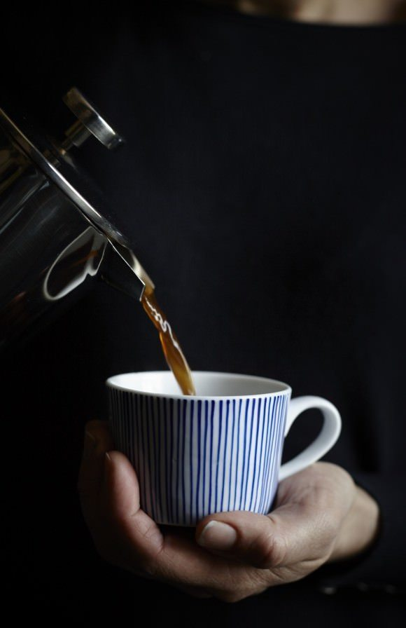 This indigo coffee cup is just one of the many items from Also Home, my new online store crush...