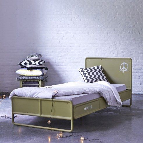 Tikamoon design and produce their own furniture using solid wood like teak, mahogany, sheesham, oak and produced sustainably...With over 1000 products to choose from I am sure you will find something to love like this metal bed, perfect for a boy's room! Check it out here...