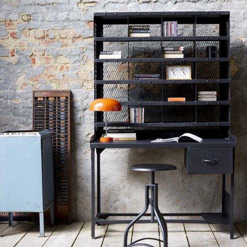 Tikamoon design and produce their own furniture using solid wood like teak, mahogany, sheesham, oak and produced sustainably...With over 1000 products to choose from I am sure you will find something to love like this metal desk, check it out here...