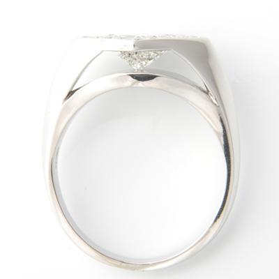 18ct White Gold Princess Cut Diamond Halo Engagement Ring 2.jpg