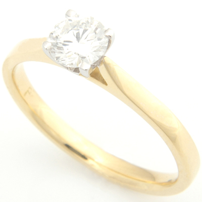 18ct Yellow and White Gold Solitaire Engagement Ring 1.jpg