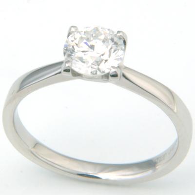 Platinum Four Claw Solitaire Diamond Engagement Ring 2.jpg