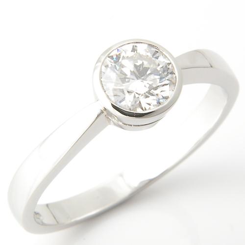 Platinum Four Claw Solitaire Diamond Engagement Ring.jpg
