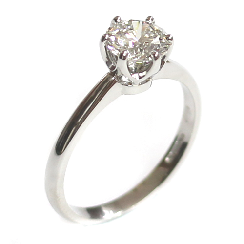 Platinum Four Claw Solitaire Diamond Engagement Ring.jpg