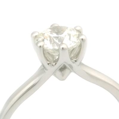Platinum Solitaire Round Brilliant Cut Diamond Engagement Ring 2 - Copy.jpg