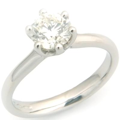 Platinum Solitaire Round Brilliant Cut Diamond Engagement Ring 1.jpg
