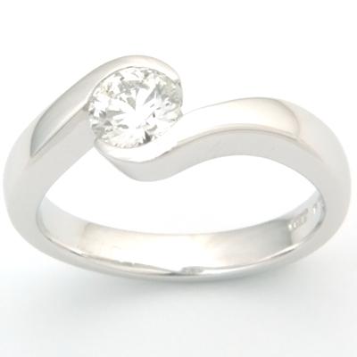 18ct White Gold Diamond Swirl Engagement Ring 2.jpg