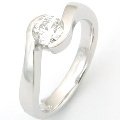 18ct White Gold Diamond Swirl Engagement Ring 1.jpg