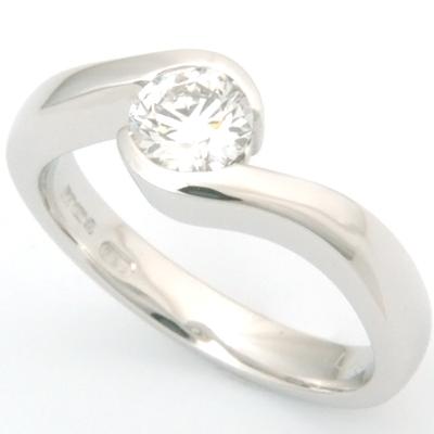 18ct White Gold Diamond Swirl Engagement Ring 3.jpg