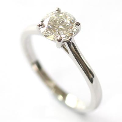 Platinum Solitaire 0.80ct Round Brilliant Cut Diamond Engagement Ring 2.jpg