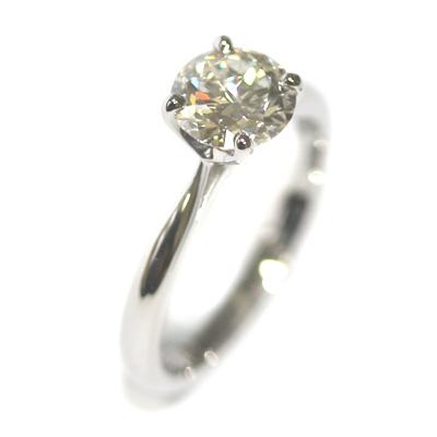 Platinum Round Brilliant Cut Solitaire Engagement Ring 4.jpg