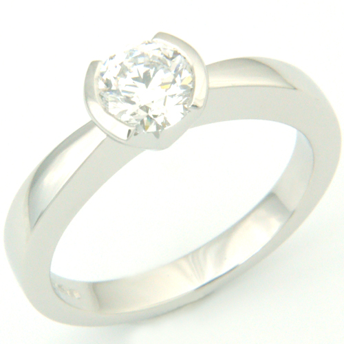 Contemporary Platinum Solitaire Diamond Engagement Ring.jpg