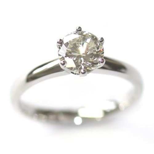 Platinum Six Claw Round Brilliant Cut Diamond Engagement Ring 3.jpg