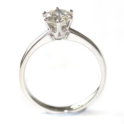 Platinum Six Claw Round Brilliant Cut Diamond Engagement Ring 5.jpg