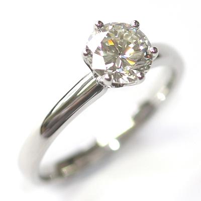 Platinum Six Claw Round Brilliant Cut Diamond Engagement Ring 6.jpg