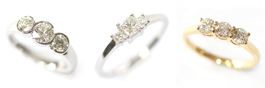 Matching Diamond Trilogy Engagement Rings.jpg