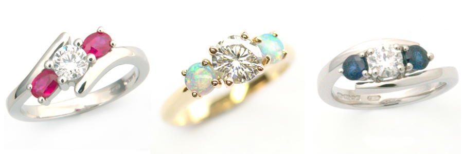 Coloured Outer Trilogy Engagement Rings.jpg