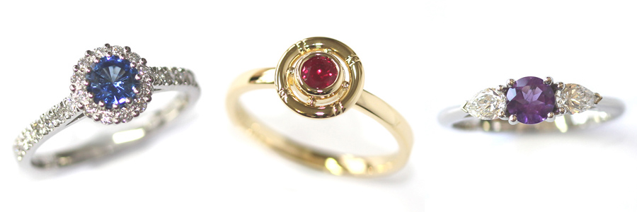 Bespoke Coloured Precious Stone Engagement Rings.jpg