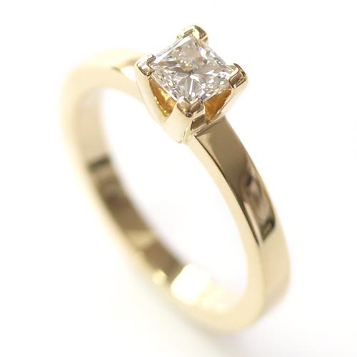 Yellow Gold Princess Cut Diamond Engagement Ring.jpg