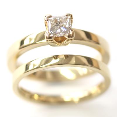 Yellow Gold Princess Cut Diamond Engagement Ring 5.jpg