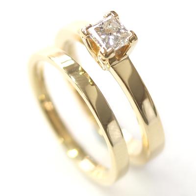 Yellow Gold Princess Cut Diamond Engagement Ring 6.jpg