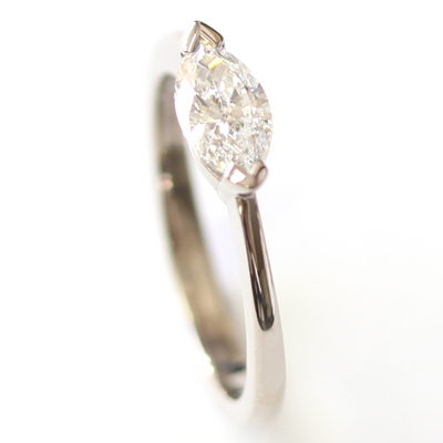 18ct White Gold Solitaire Marquise Cut Diamond Engagement Ring 2 - Copy.jpg