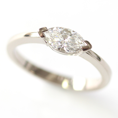 18ct White Gold Solitaire Marquise Cut Diamond Engagement Ring 1 - Copy.jpg