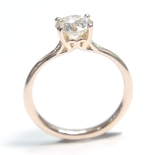 18ct Rose Gold Round Brilliant Cut Diamond Engagement Ring.jpg