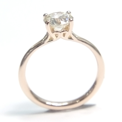18ct Rose Gold Round Brilliant Cut Diamond Engagement Ring 1.jpg