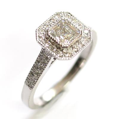 Platinum Asscher Cut Diamond Halo Engagement Ring 1.jpg