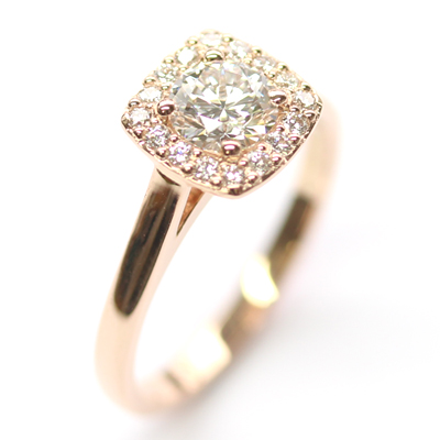 18ct Rose Gold Diamond Halo Cluster Engagement Ring 2.jpg