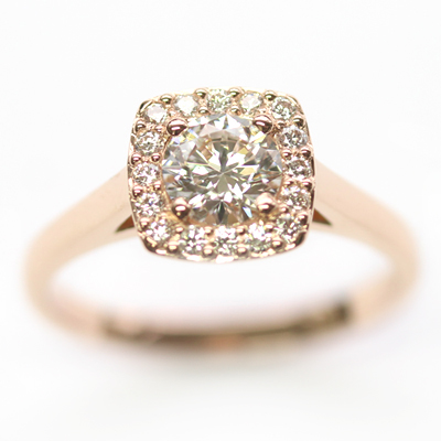 18ct Rose Gold Diamond Halo Cluster Engagement Ring 5.jpg