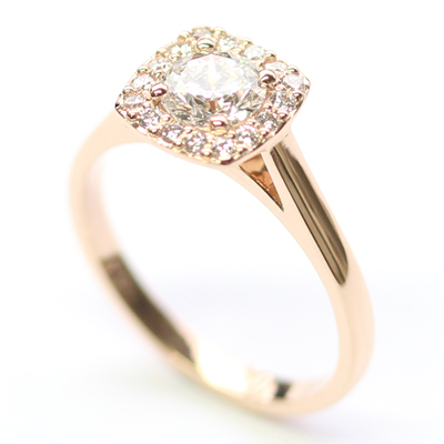 18ct Rose Gold Diamond Halo Cluster Engagement Ring 7.jpg