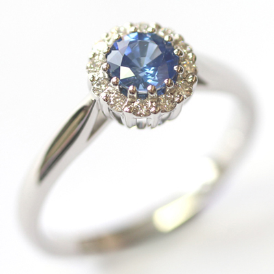 Crown Collection White Gold Sapphire and Diamond Halo Ring 4.jpg