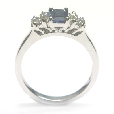 18ct White Gold Sapphire and Diamond Engagement Ring 2.jpg