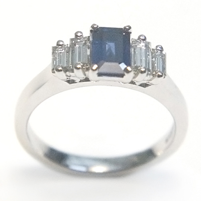 18ct White Gold Sapphire and Diamond Engagement Ring 3.jpg