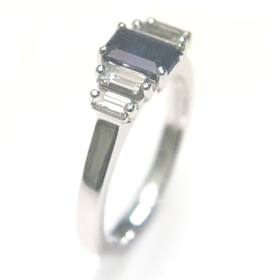 18ct White Gold Sapphire and Diamond Engagement Ring 4.jpg