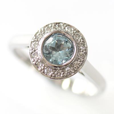 Platinum Aquamarine and Diamond Halo Engagement Ring 2.jpg