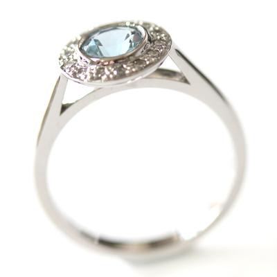 Platinum Aquamarine and Diamond Halo Engagement Ring 5.jpg