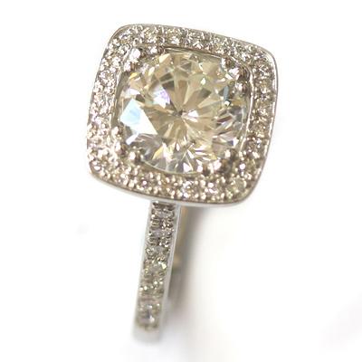 Platinum Tiffany Inspired Diamond Halo Engagement Ring 2.jpg