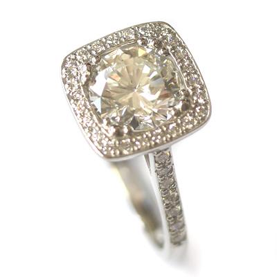 Platinum Tiffany Inspired Diamond Halo Engagement Ring 3.jpg