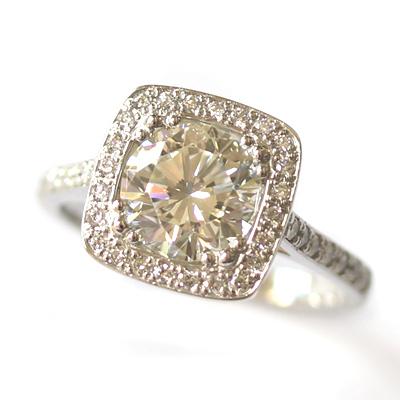 Platinum Tiffany Inspired Diamond Halo Engagement Ring 4.jpg
