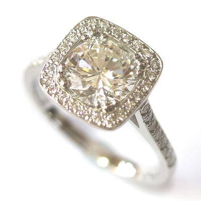 Platinum Tiffany Inspired Diamond Halo Engagement Ring 6.jpg