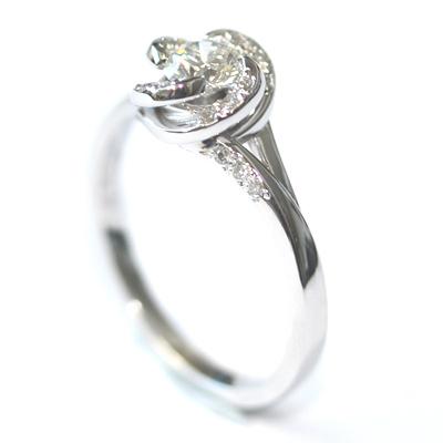 18ct White Gold Diamond Rose Engagement Ring 2.jpg